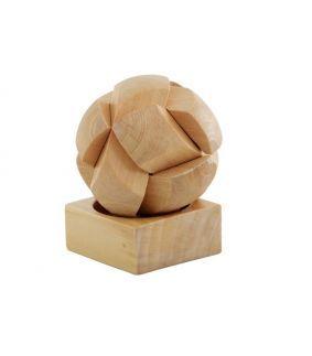 Puzzle din lemn in forma de minge