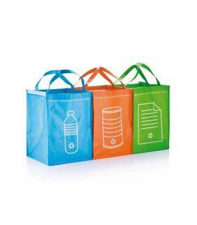 Set 3 pungi pentru reciclare