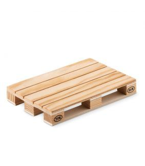 Coaster din lemn în formă de mini Euro palet