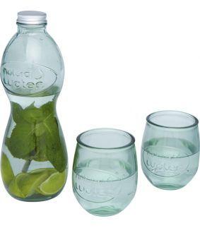 Set din sticlă reciclată alcătuit din 3 piese